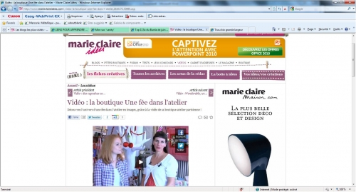 video une fée dans l'atelier, marie claire idees, video couture, paris
